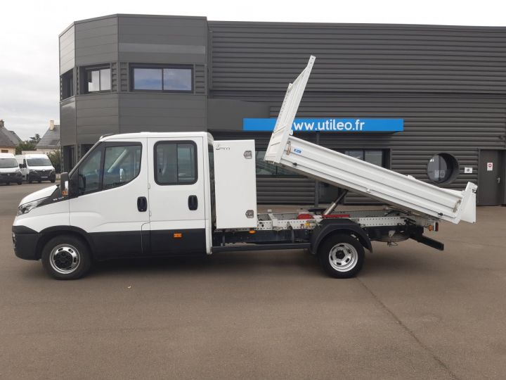 Chassis + body Iveco CF75 Double Cab Back Dump/Tipper body 35C14 BLANC - 9