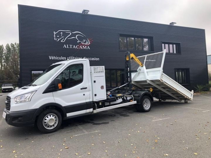 Chassis + body Ford Transit POLYBENNE AMPLIROLL 1 CAISSON BLANC - 2