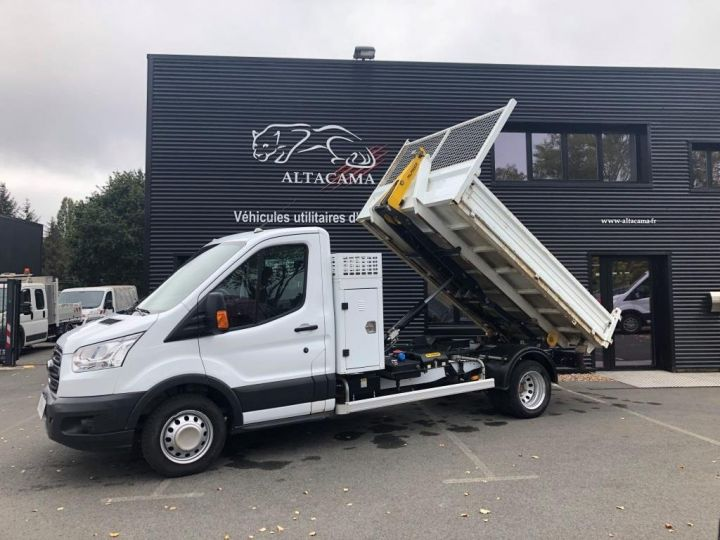 Chassis + body Ford Transit POLYBENNE AMPLIROLL 1 CAISSON BLANC - 5