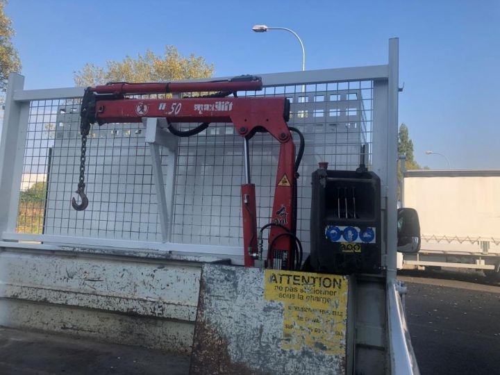 Chassis + body Iveco Daily Tipper body + crane 70 C 18 BENNE CHARGE UTILE 3T COFFRE GRUE CROCHET  BLANC - 7
