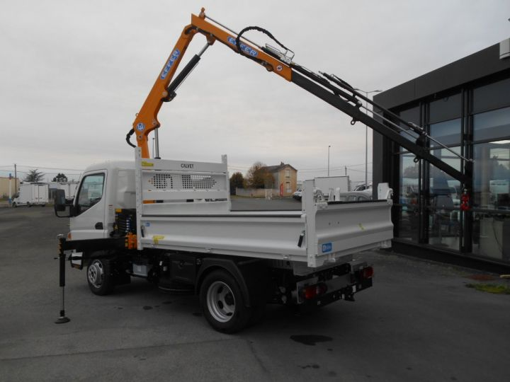 Chassis + body Mitsubishi Canter Tipper body + crane 3S15 N28 BLANC - 3