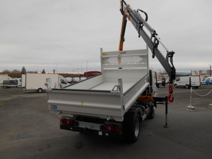Chassis + body Mitsubishi Canter Tipper body + crane 3S15 N28 BLANC - 4