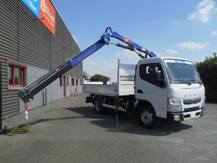Chassis + body Mitsubishi Canter Tipper body + crane 3S15 N28 BLANC - 7