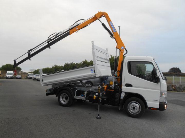Chassis + body Mitsubishi Canter Tipper body + crane FUSO 35S15 N28, 3.0L 150CV Benne et Grue EFFER DISPONIBLE  - 4