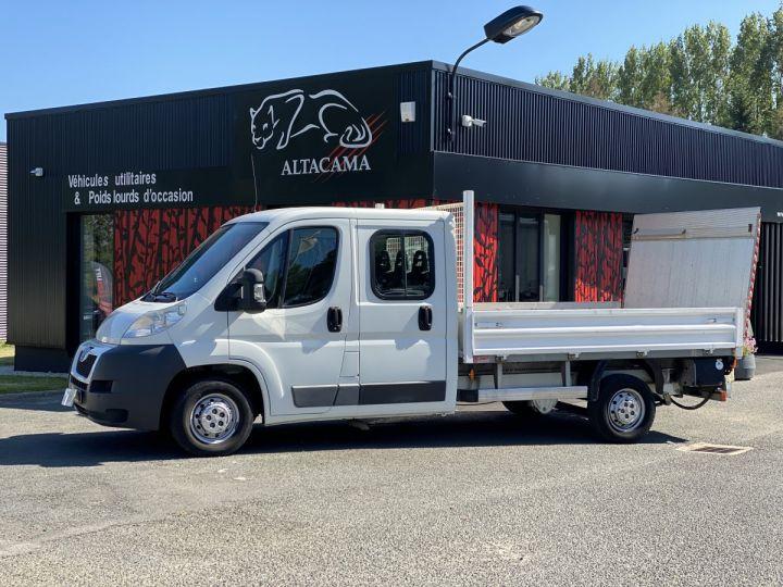 Chasis + carrocería Peugeot Boxer Caja abierta 130 HAYON ELEVATEUR DOUBLE CABINE 7 PLACES BLANC - 1