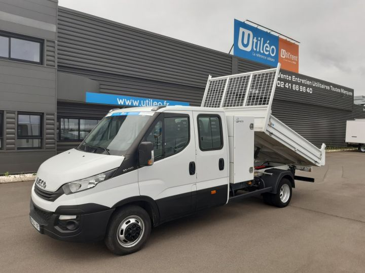 Chassis + carrosserie Iveco CF75 Benne Double Cabine 35C14 BLANC - 1