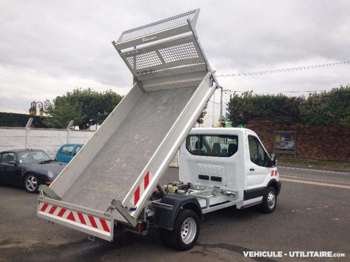 Chassis + carrosserie Ford Transit Benne arrière custom benne alu 155ch clim blanc - 1