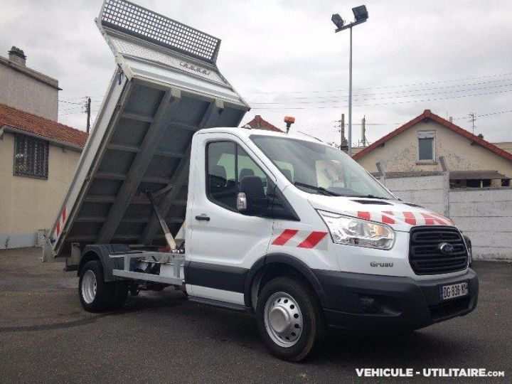 Chassis + carrosserie Ford Transit Benne arrière custom benne alu 155ch clim blanc - 3