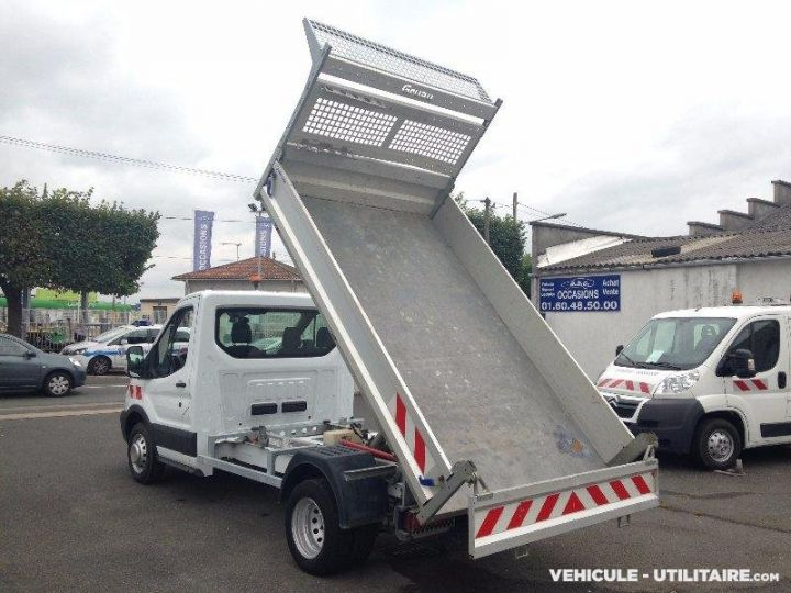 Chassis + carrosserie Ford Transit Benne arrière custom benne alu 155ch clim blanc - 4