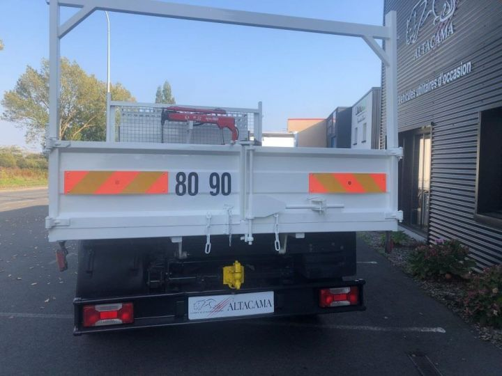 Chassis + carrosserie Iveco Daily Benne + grue 70 C 18 BENNE CHARGE UTILE 3T COFFRE GRUE CROCHET  BLANC - 5