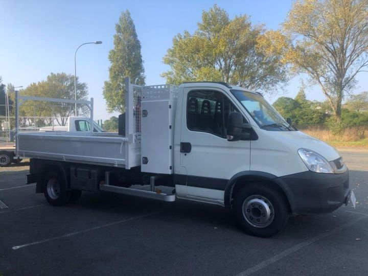 Chassis + carrosserie Iveco Daily Benne + grue 70 C 18 BENNE CHARGE UTILE 3T COFFRE GRUE CROCHET  BLANC - 6