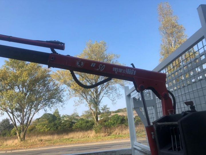 Chassis + carrosserie Iveco Daily Benne + grue 70 C 18 BENNE CHARGE UTILE 3T COFFRE GRUE CROCHET  BLANC - 9