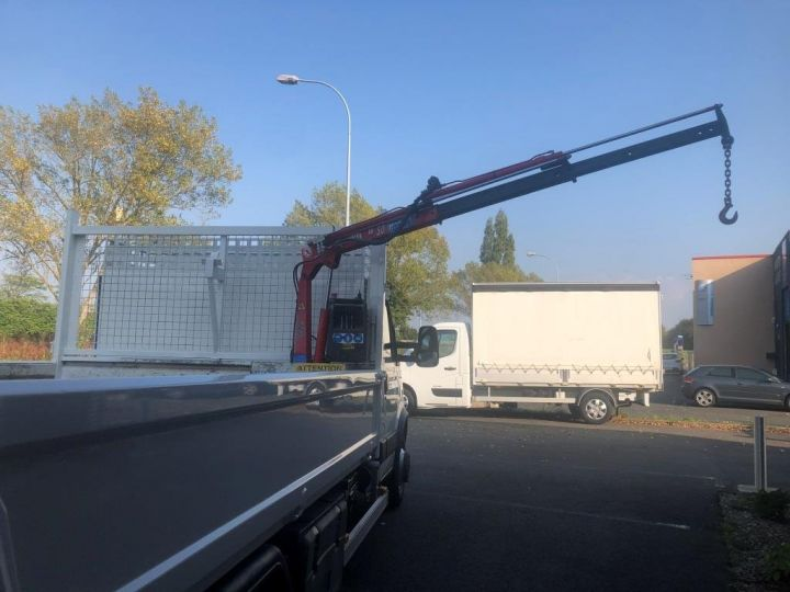 Chassis + carrosserie Iveco Daily Benne + grue 70 C 18 BENNE CHARGE UTILE 3T COFFRE GRUE CROCHET  BLANC - 10