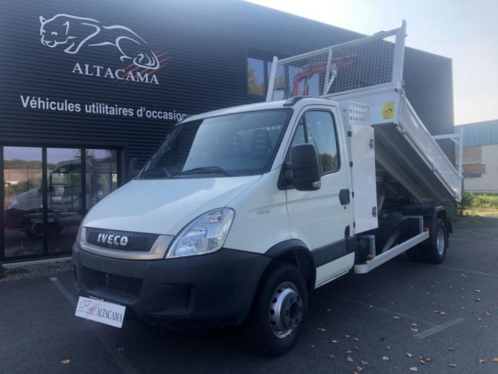 Chassis + carrosserie Iveco Daily Benne + grue 70 C 18 BENNE CHARGE UTILE 3T COFFRE GRUE CROCHET  BLANC - 15