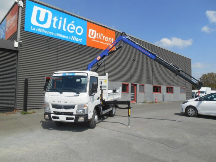 Chassis + carrosserie Mitsubishi Canter Benne + grue 3S15 N28 BLANC - 3