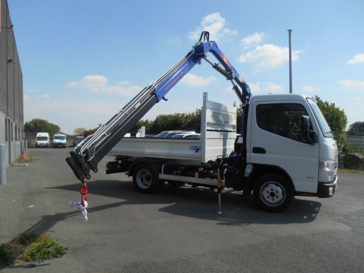 Chassis + carrosserie Mitsubishi Canter Benne + grue 3S15 N28 BLANC - 6