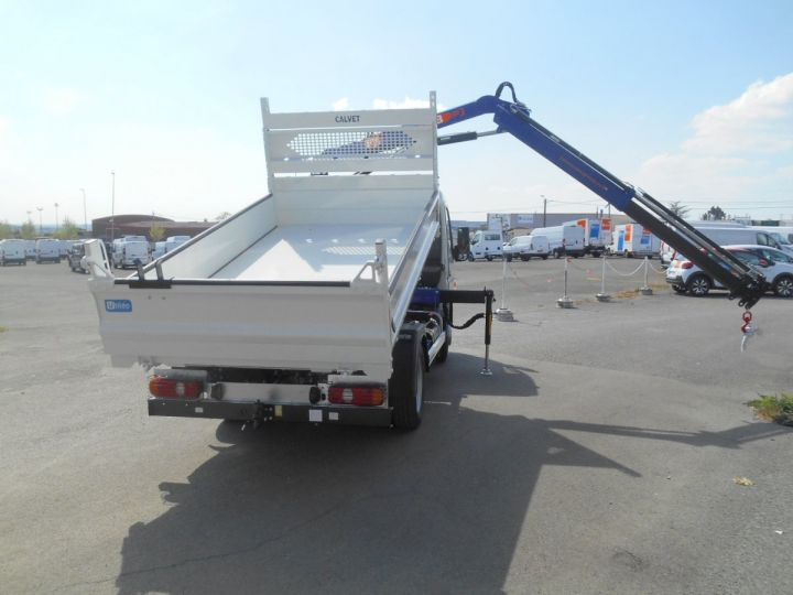 Chassis + carrosserie Mitsubishi Canter Benne + grue 3S15 N28 BLANC - 8