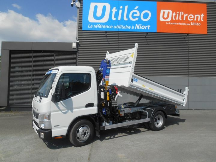 Chassis + carrosserie Mitsubishi Canter Benne + grue 3S15 N28 BLANC - 9