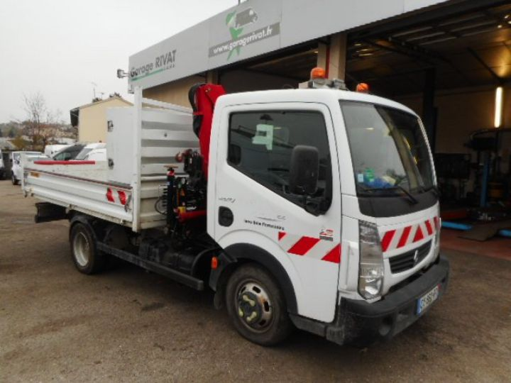 Chassis + carrosserie Renault Maxity Benne + grue 140 DXI  Occasion - 1
