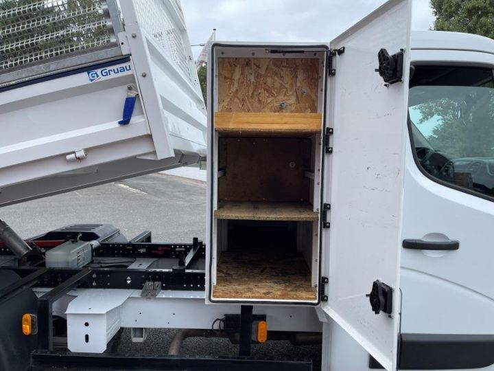 Chassis + carrosserie Renault Master Benne arrière 130CV BENNE PAYSAGISTE COFFRE CROCHET BLANC - 4