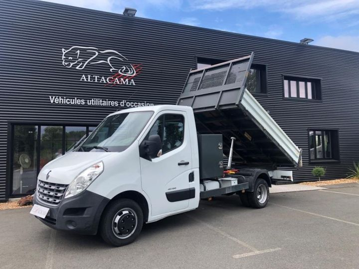 Chassis + carrosserie Renault Master Benne arrière 150CV ROUES JUMELEES BENNE COFFRE BLANC - 1
