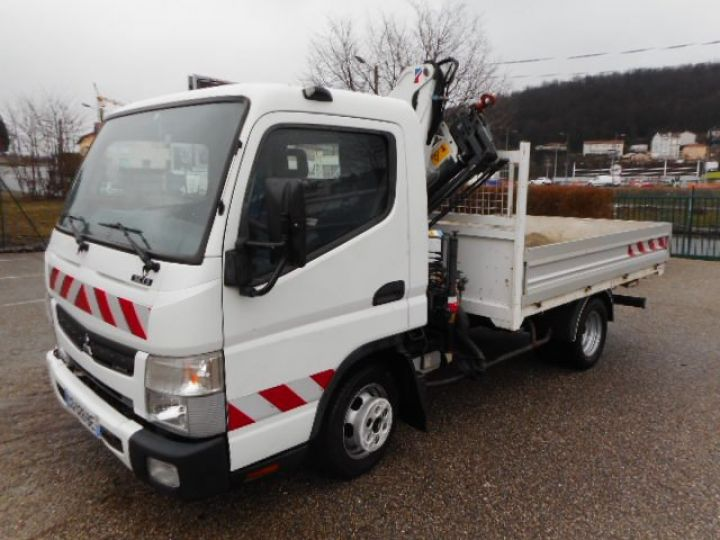 Chassis + carrosserie Mitsubishi Canter Plateau + grue 3C13  Occasion - 1