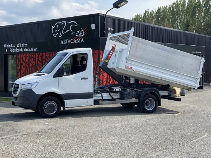 Chassis + carrosserie Mercedes Sprinter Polybenne 516 POLYBENNE BLANC - 1