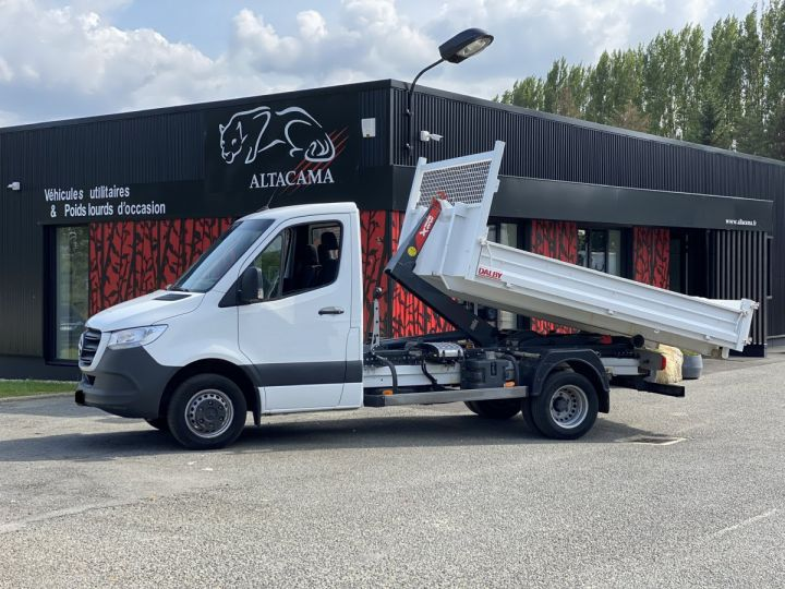 Chassis + carrosserie Mercedes Sprinter Polybenne 516 POLYBENNE BLANC - 2