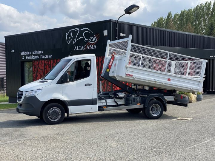 Chassis + carrosserie Mercedes Sprinter Polybenne 516 POLYBENNE BLANC - 3