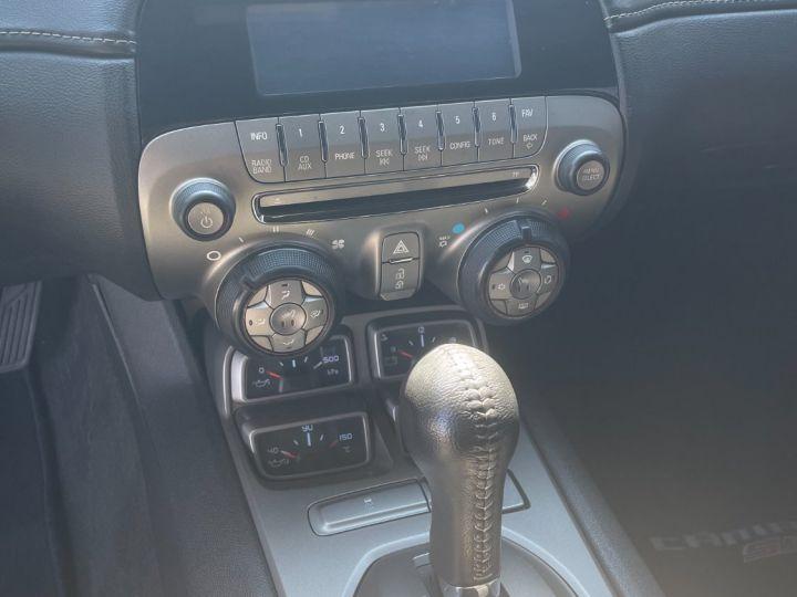 Chevrolet Camaro 5 V8 6.2L Cabriolet Blanche + Bande Noir - 12