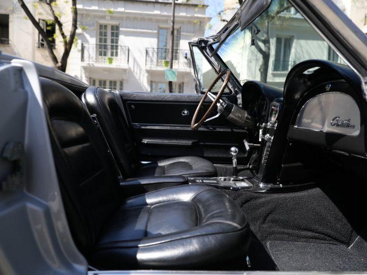 Chevrolet Corvette C2 CHEVROLET CORVETTE C2 STINGRAY CABRIOLET 6.9 427CI RESTAUREE A VOIR !! Gris Metal - 13