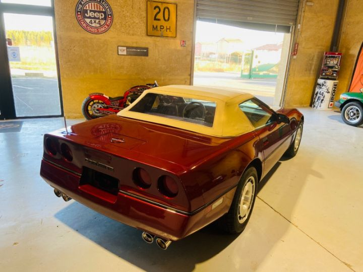 Chevrolet Corvette C4 CABRIOLET 5.7 V8 L98 EN FRANCE Bordeau - 7