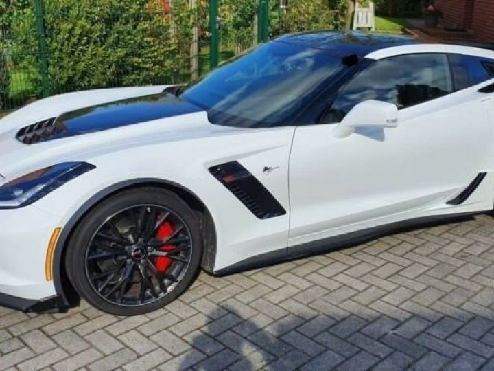 Chevrolet Corvette *C7 TARGA SUPERCHARGED* 6.2 V8 659 CV *Z06* CARBON 65 AT8/Garantie 12 MOIS  Blanc - 2
