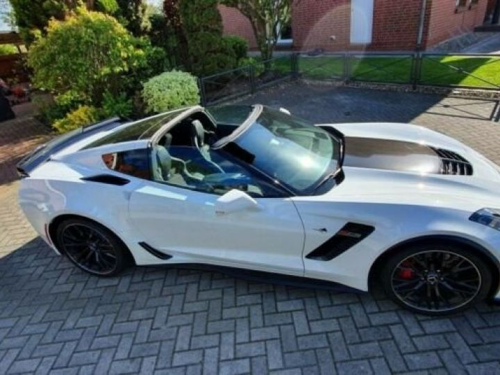 Chevrolet Corvette *C7 TARGA SUPERCHARGED* 6.2 V8 659 CV *Z06* CARBON 65 AT8/Garantie 12 MOIS  Blanc - 12