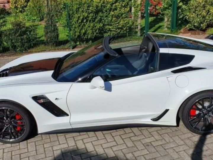 Chevrolet Corvette *C7 TARGA SUPERCHARGED* 6.2 V8 659 CV *Z06* CARBON 65 AT8/Garantie 12 MOIS  Blanc - 13