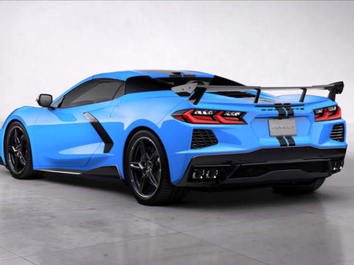 Chevrolet Corvette C8 Stingray Targa LT3 2020 Rapid Blue Neuf - 2