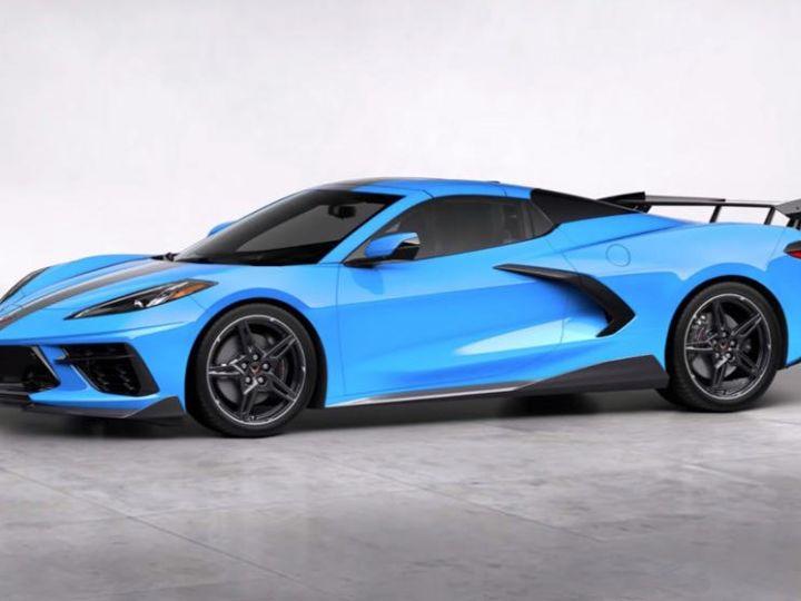 Chevrolet Corvette C8 Stingray Targa LT3 2020 Rapid Blue Neuf - 3