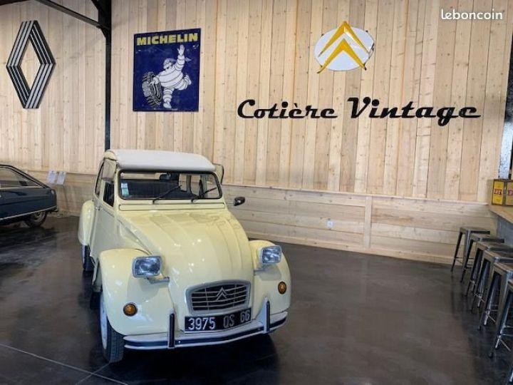 Citroen 2CV Superbe 2cv6 club 2eme main 42500km d'origine Jaune - 4