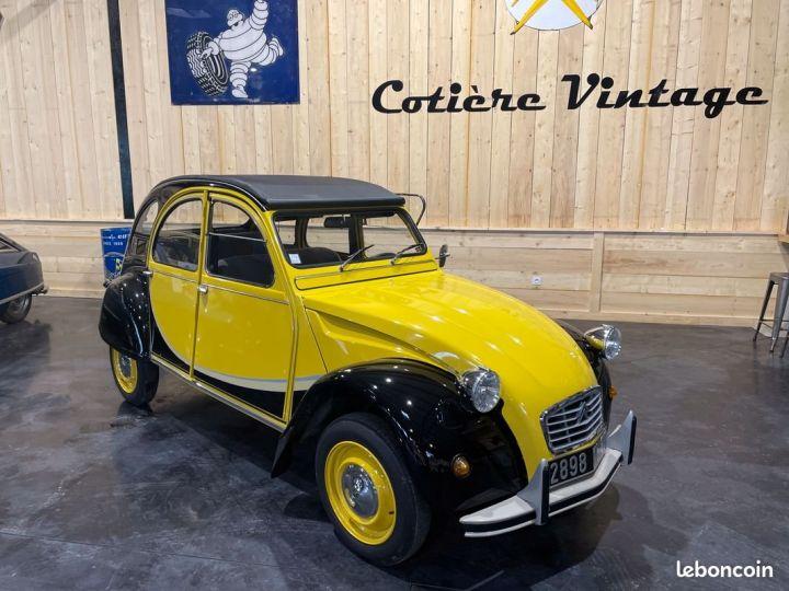 Citroen 2CV Très authentique 2cv6 charleston jaune et noire 1ère main Jaune - 9