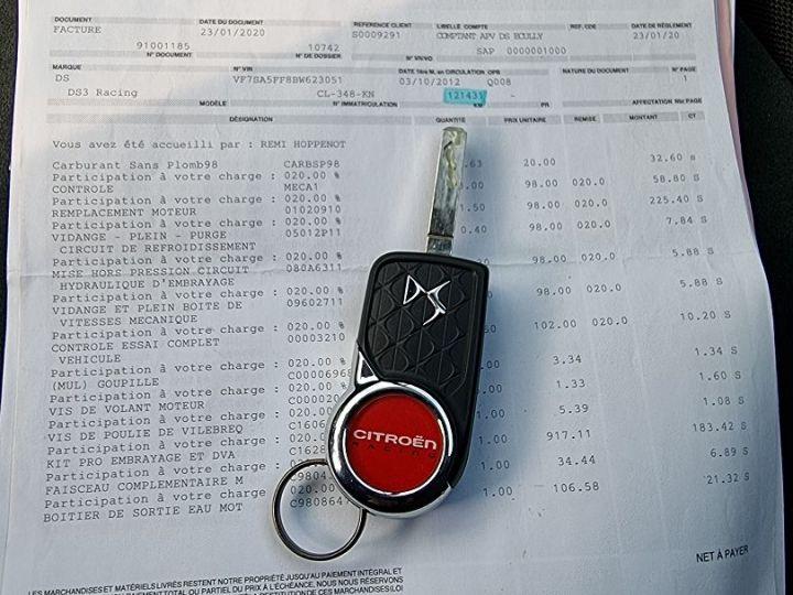 Citroen DS3 1.6 THP 200CH RACING Blanc - 13