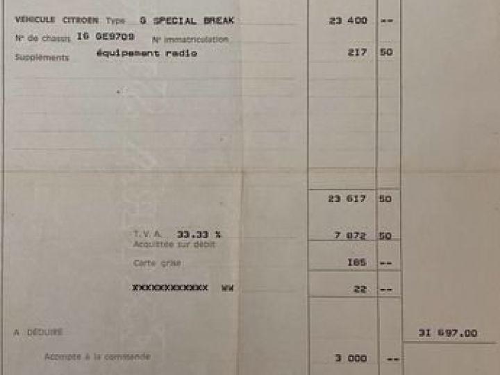 Citroen GS Gsa citroën break 2eme main 1979  - 8