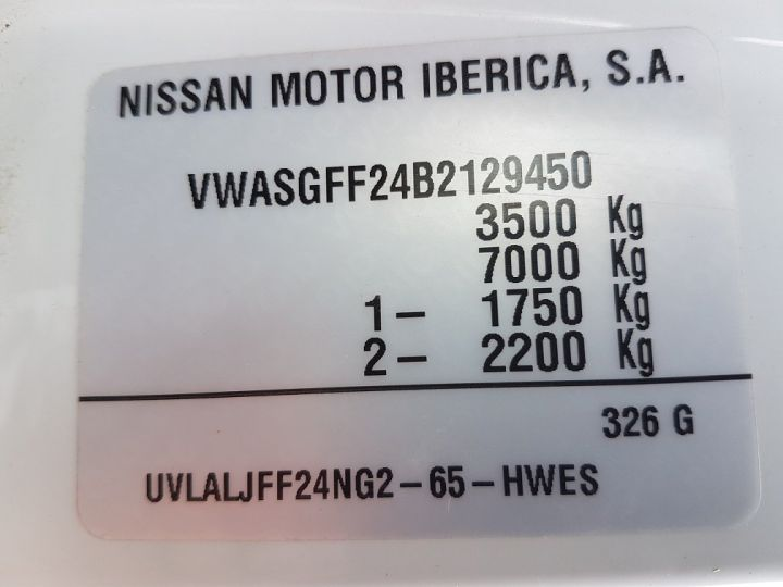 Commercial car Nissan Cabstar Back Dump/Tipper body 35-11 BLANC JAUNE - 17