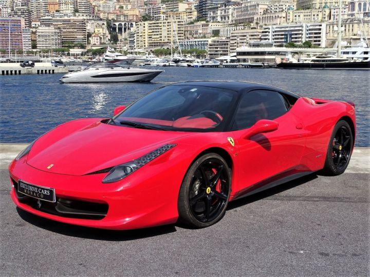 Ferrari 458 Italia FERRARI 458 ITALIA F1 DCT 570 CV - MONACO Rosso Corsa avec toit Noir - 1