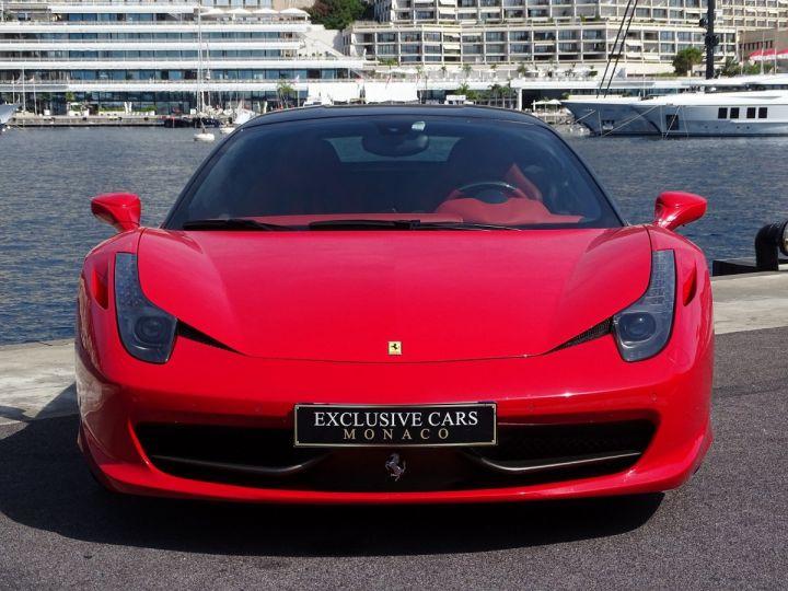 Ferrari 458 Italia FERRARI 458 ITALIA F1 DCT 570 CV - MONACO Rosso Corsa avec toit Noir - 2