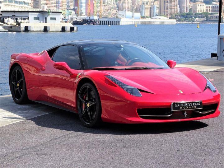 Ferrari 458 Italia FERRARI 458 ITALIA F1 DCT 570 CV - MONACO Rosso Corsa avec toit Noir - 3