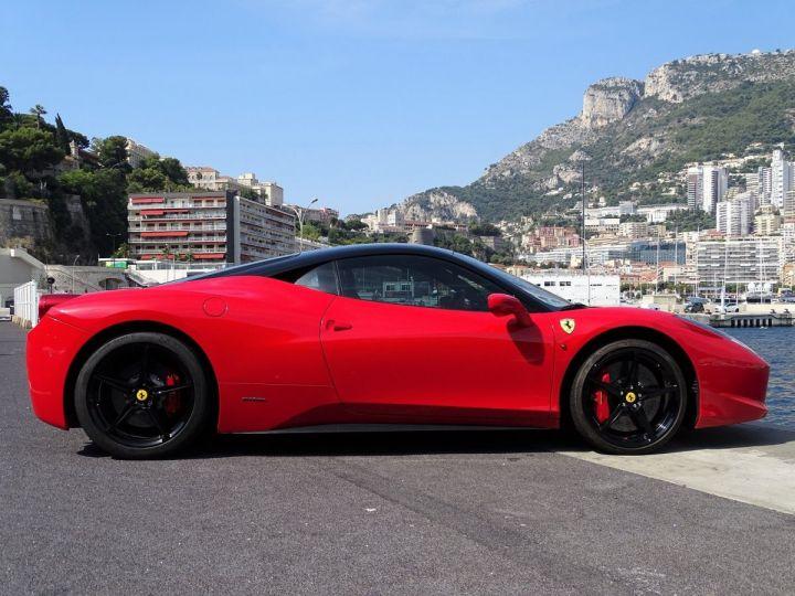 Ferrari 458 Italia FERRARI 458 ITALIA F1 DCT 570 CV - MONACO Rosso Corsa avec toit Noir - 4
