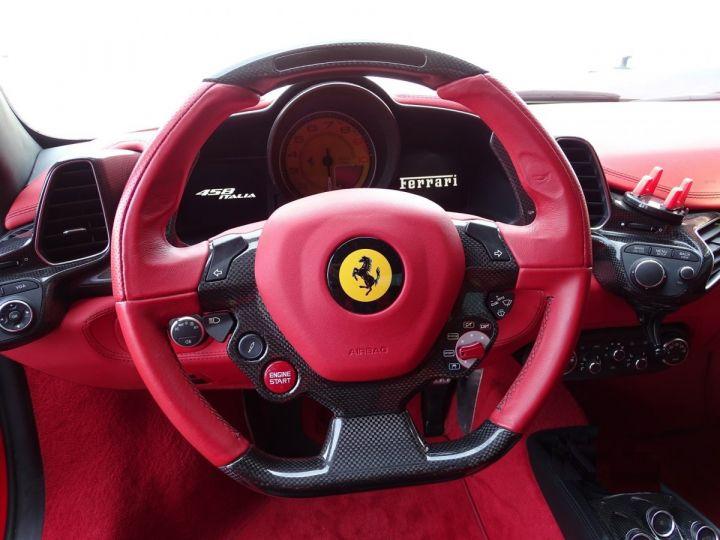 Ferrari 458 Italia FERRARI 458 ITALIA F1 DCT 570 CV - MONACO Rosso Corsa avec toit Noir - 10