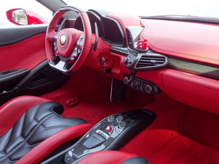 Ferrari 458 Italia FERRARI 458 ITALIA F1 DCT 570 CV - MONACO Rosso Corsa avec toit Noir - 11