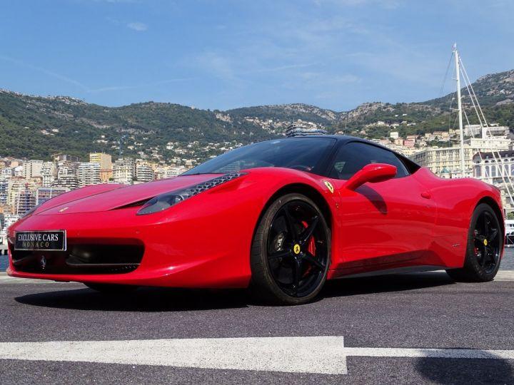 Ferrari 458 Italia FERRARI 458 ITALIA F1 DCT 570 CV - MONACO Rosso Corsa avec toit Noir - 12