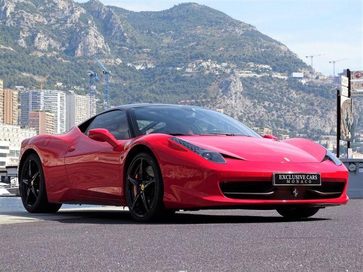 Ferrari 458 Italia FERRARI 458 ITALIA F1 DCT 570 CV - MONACO Rosso Corsa avec toit Noir - 15